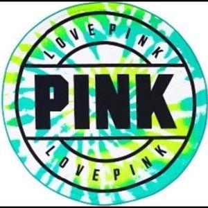 PINK Victoria's Secret Round Beach Towel Green